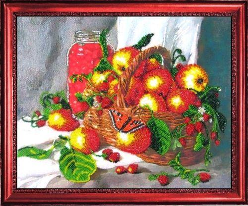 213 Набор для вышивания бисером Butterfly 'Земляничный натюрморт', 25*31 см