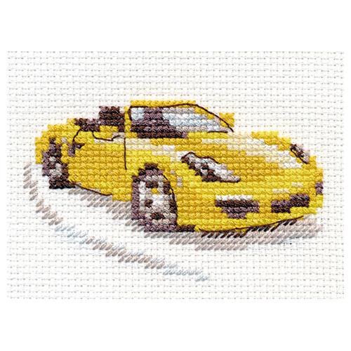 0-156 Набор для вышивания АЛИСА 'Желтый спорткар' 9*6см