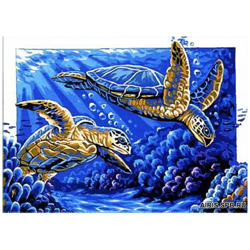 MRC1531-341 Канва с рисунком MARGOT 'Черепахи' 40*50 см