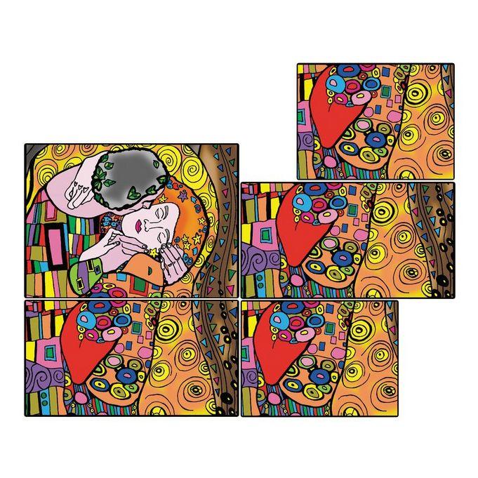 Коробка-раскраска 'Климт'+10маркеров (24х17х13) BOX8