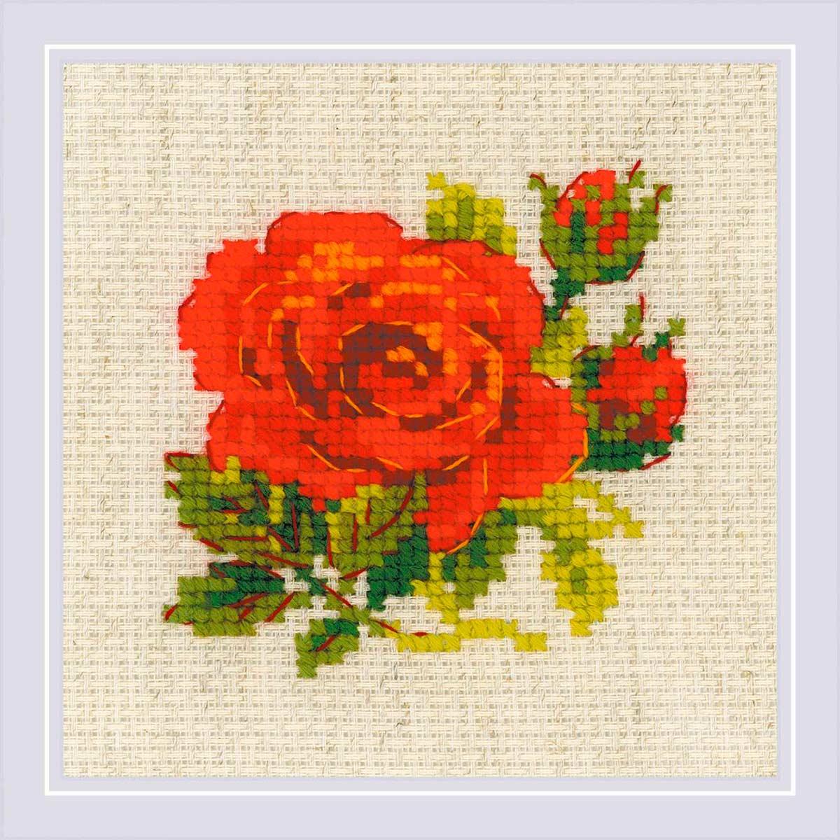 1843 Набор для вышивания Риолис 'Розочка' 13*13 см