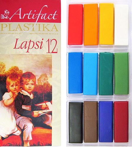 7112-8 Пластика отверждаемая Lapsi, 12 цветов, упак./240 гр.