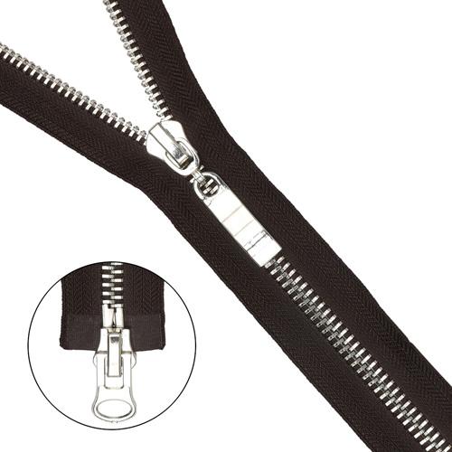 Молния металл-никель разъемная (2 зам.,Т8) - 65см