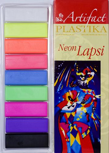 7109-58 Пластика отверждаемая Lapsi Neon, 9 флуор. цветов, упак./180 гр.