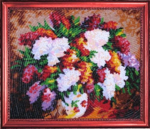 226 Набор для вышивания бисером Butterfly 'Сиреневый букет', 28*33 см
