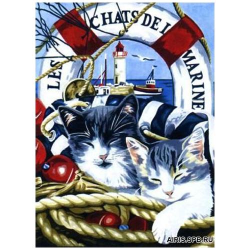 MRC1531-366 Канва с рисунком MARGOT 'Морские путешественники' 40*50 см