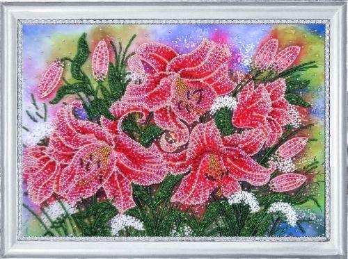 228 Набор для вышивания бисером Butterfly 'Сияющие лилии', 24*34 см