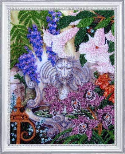 229 Набор для вышивания бисером 'Фонтан в саду'35*27см