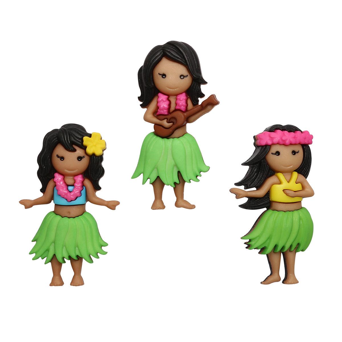10408 Фигурки. Гавайские девочки Dress It Up