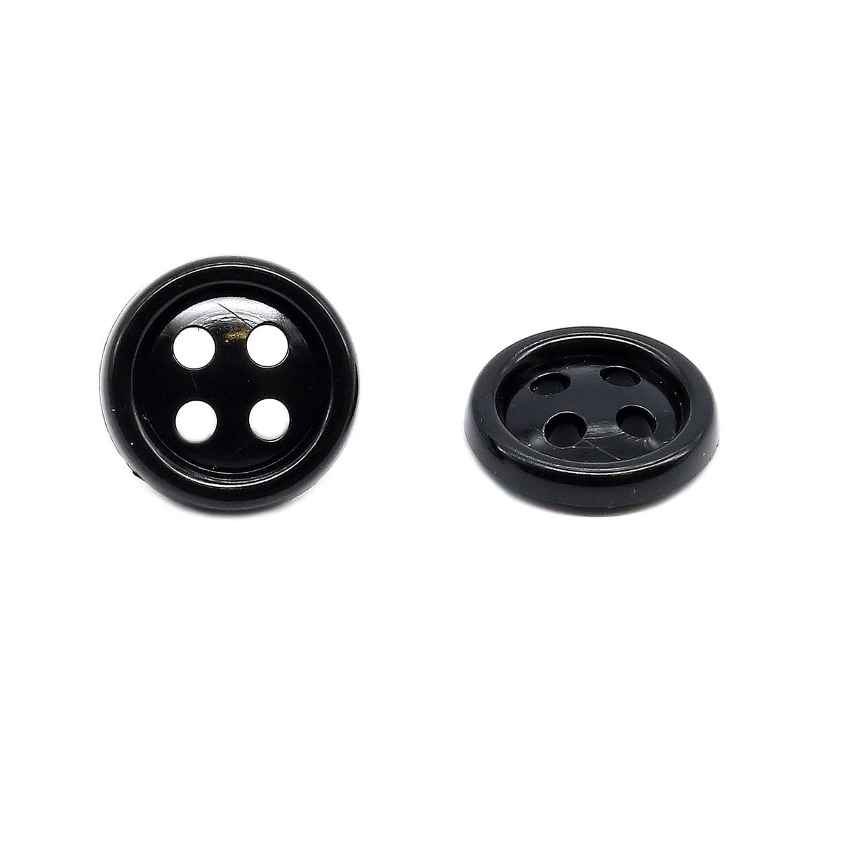 КЛ14-4 Пуговица 14мм, 4пр, ПС, черный