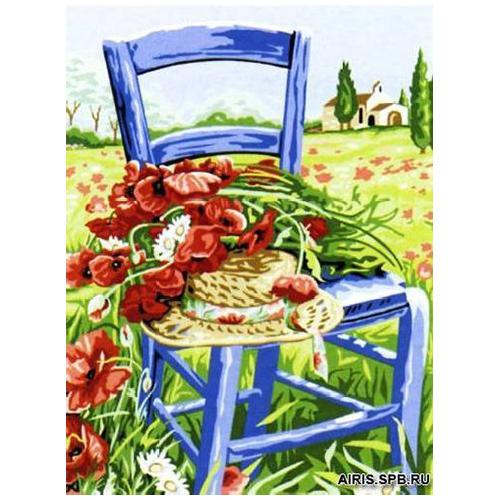 MRC1531-370 Канва с рисунком MARGOT 'Маки на стуле' 40*50 см