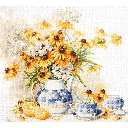 50-08 Набор для вышивания Чудесная игла 'Цветочный чай' 40*35см