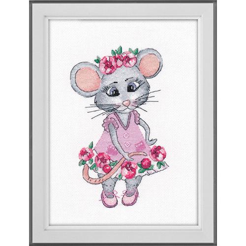 1201 Набор для вышивания ОВЕН 'Мышка вертихвостка'13*20см