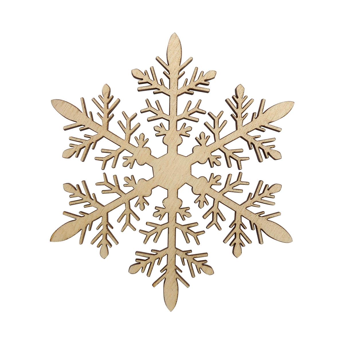L-1153 Деревянная заготовка 'Снежинка'№12 11*9,6*0,4см Астра