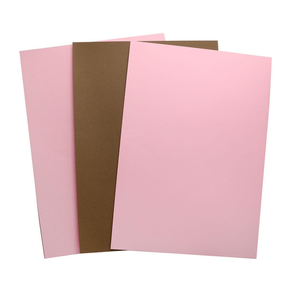 БД0003 Бумага двухсторонняя А4 КОМПЛЕКТ 3шт. Розовый/Коричневый