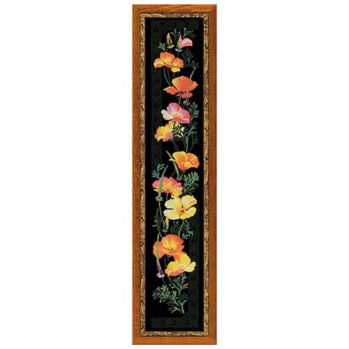100/012 Набор для вышивания Riolis 'Калифорнийский мак', 20*105 см
