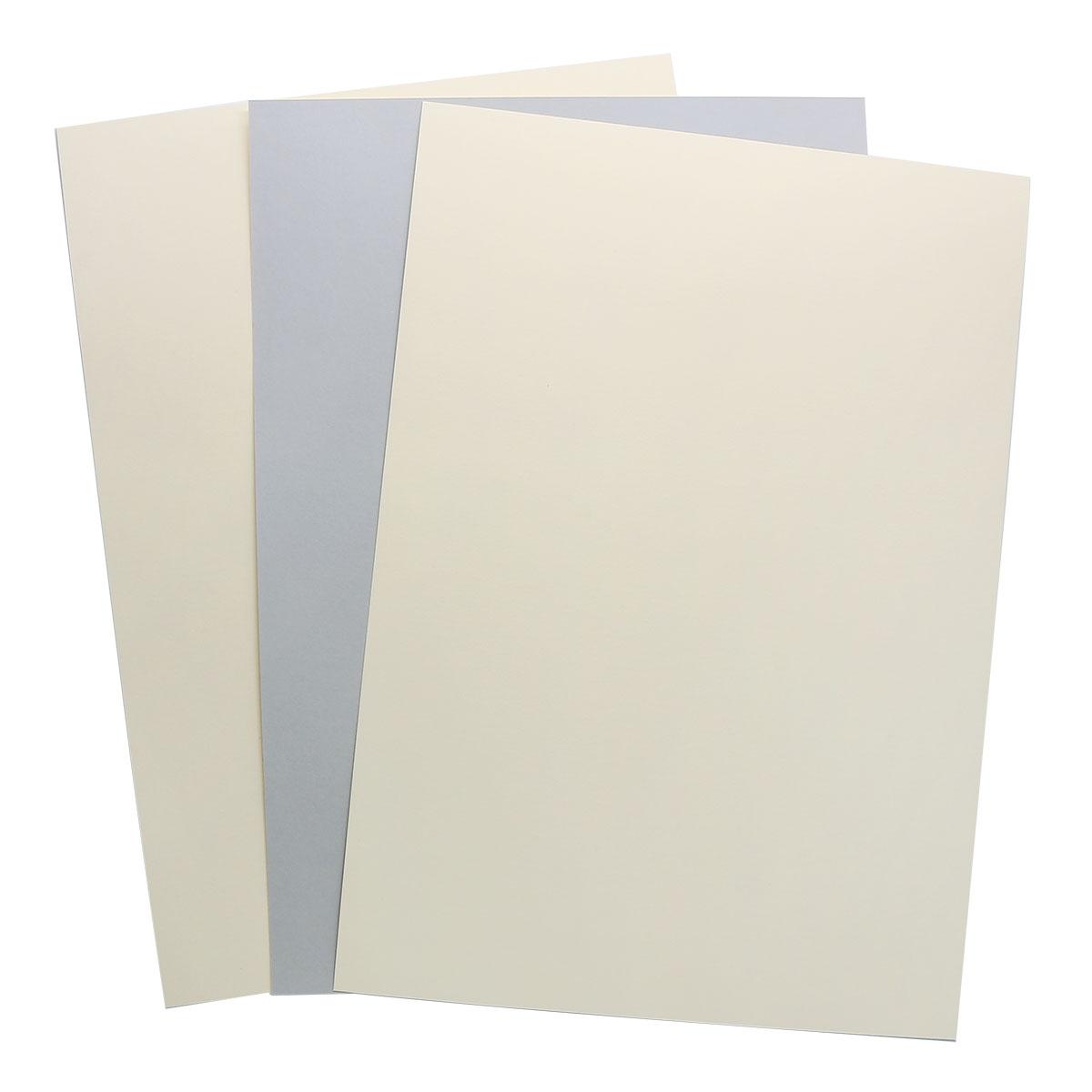 БД0005 Бумага двухсторонняя А4 КОМПЛЕКТ 3шт. Серый/Кремовый