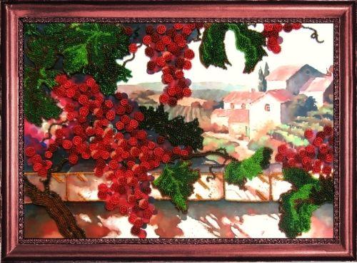 309 Набор для вышивания бисером Butterfly 'Виноград', 25*36 см
