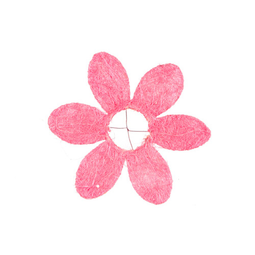 1239935422 Каркас для букета Ромашка, сизаль 25см розовый