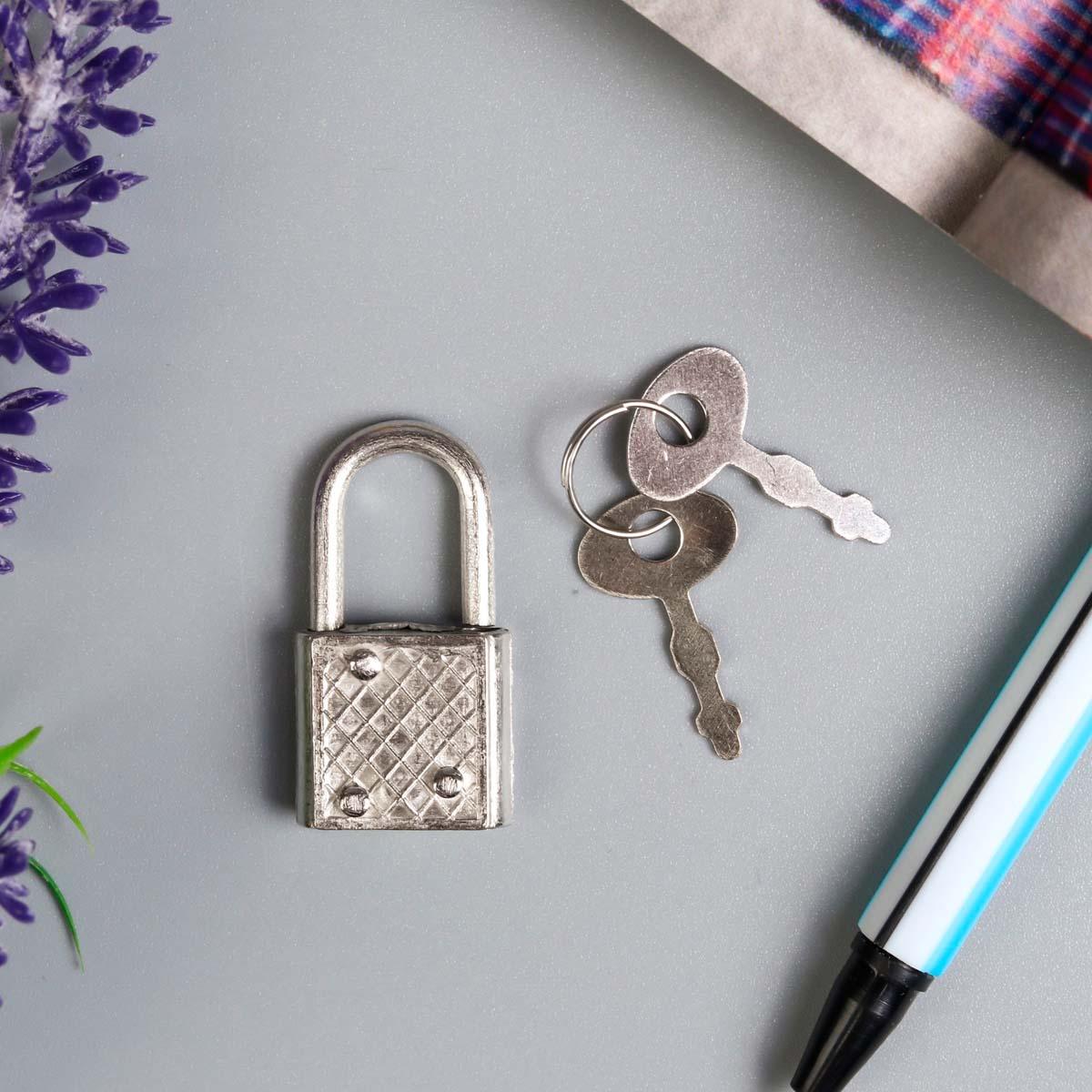 3531334 Замок навесной металл для шкатулок с ключом 3,3*1,9 см