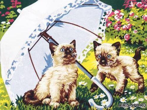 SE926-175 Канва с рисунком SEG de Paris 'Красивый зонтик от солнца' 40*50 см
