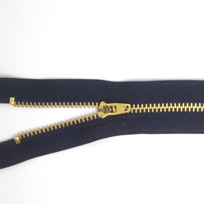 Молния джинсовая нераз.золото,т4 p/l 18см