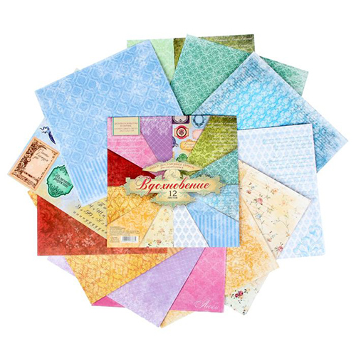 1197866 Набор бумаги для скрапбукинга 'Вдохновение', 12 листов 30,5 х 30,5 см