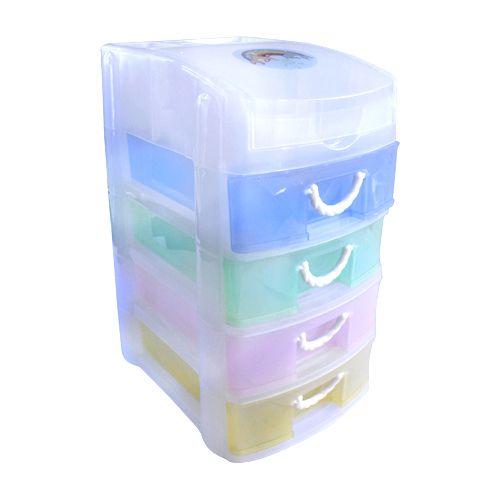 YS94-5414 Контейнер для мелочей с 4 ящиками, 19*14,7*26,8 см