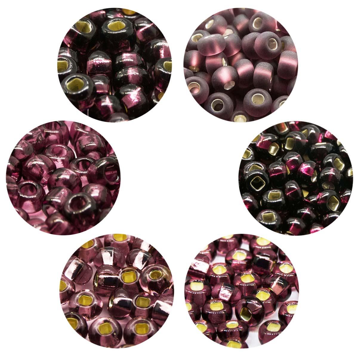 Набор бисера 11, размеры 7-10/0, 6 цветов, 6 (+/-0,5) гр, Preciosa