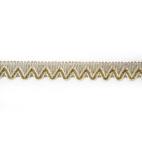Тесьма металлизированная арт.10304 17мм*16,5м