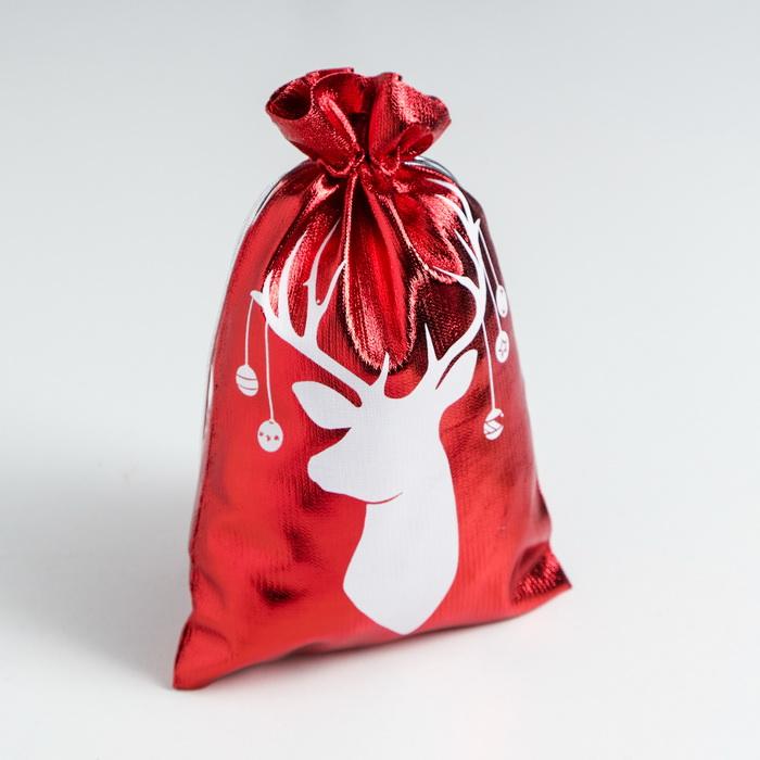 4280330 Мешочек подарочный парча Merry Christmas ,16 х24см