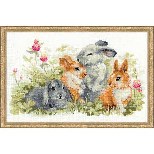 1416 Набор для вышивания Riolis 'Забавные крольчата', 40*25 см