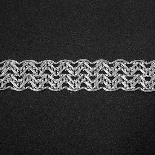 Тесьма металлизированная арт.1231 23мм*16,5м