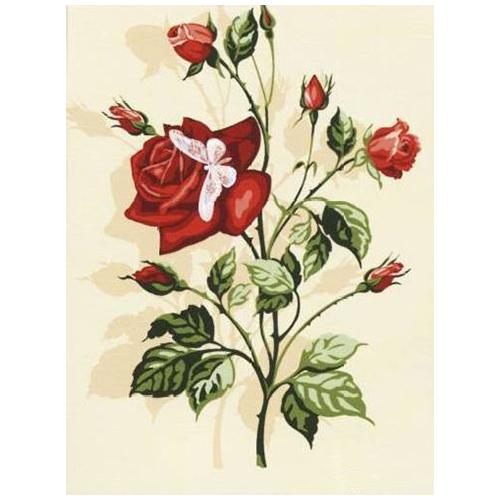 SE926-226 Канва с рисунком SEG de Paris 'Роза' 40*50 см