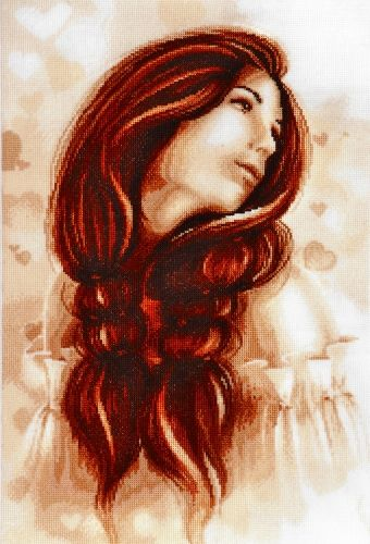 1180 Набор для вышивания Alisena 'Девушка', 40*27 см