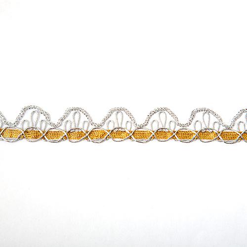 Тесьма металлизированная арт.CROWN 16мм*16,5м