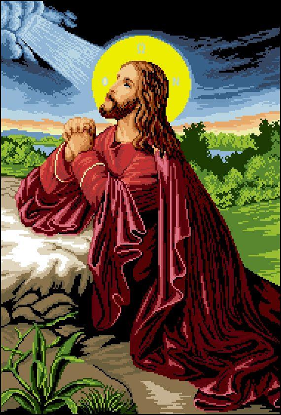 И-029 Канва с рисунком 'Гелиос' 'Иисус Христос', 40х56,5 см