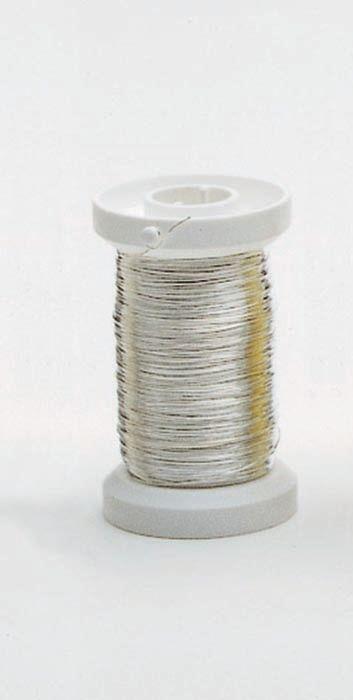 62220108 Проволока серебряная ,толщ.0,25мм,40м Glorex