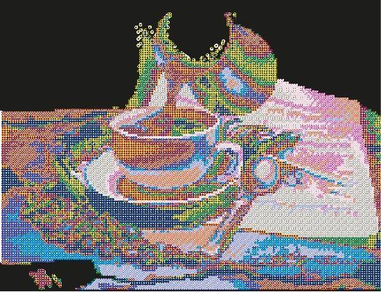В1077 Канва с рисунком Alisena 'Чашка кофе', 36*28 см