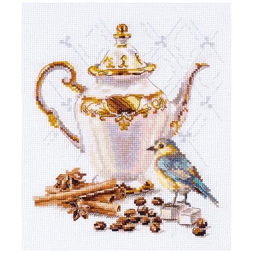 5-21 Набор для вышивания АЛИСА 'Ценитель кофе' 15*18 см