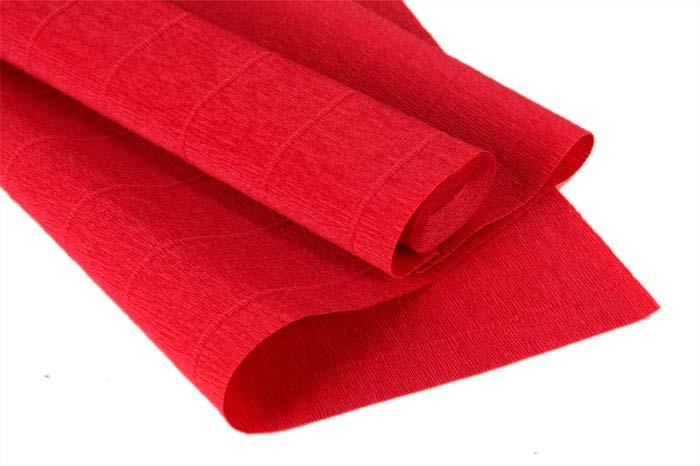 62253 Бумага гофрированная простая, 180гр 17А/6 красный