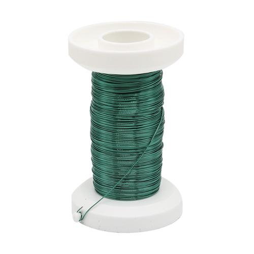 62220111 Проволока, толщ.0,25мм,40м,зеленый Glorex