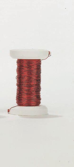 62220113 Проволока, толщ.0,25мм,40м,красный Glorex