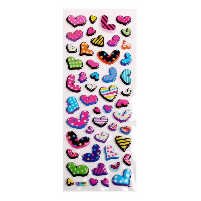 750009 Наклейка 'Сердечки' МИКС 20,5х7,5 см