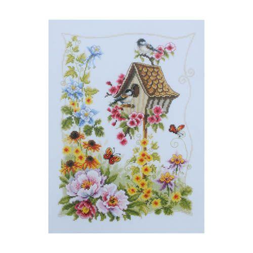 0145026-PN Набор для вышивания Vervaco 'Птичий домик' 26x36см