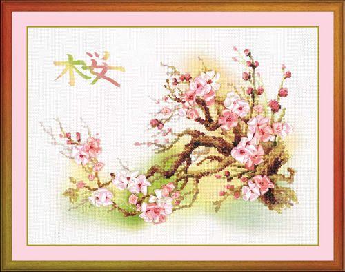 РТ-0029 Набор для вышивания Riolis 'Ветка сакуры, 40*30 см