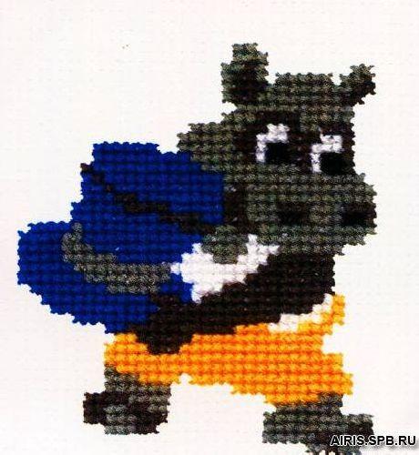 282 Набор для вышивания РС-Студия 'Бегемотик со шляпой' 11*8 см