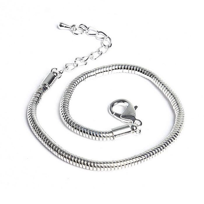 1016284 Основа-браслет 20 см, цвет серебро