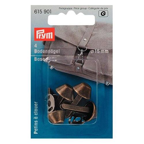 615901 Гвоздики для дна сумки металлические, состаренная латунь,15 мм, упак./4 шт., Prym