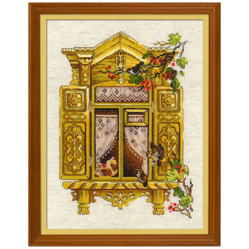 1731 Набор для вышивания Риолис 'Окошко в Воробьево' 30*40см